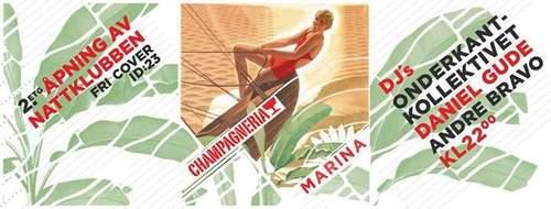 Champagneria Klubbåpning /// Onderkant - Daniel Gude - Andre Bravo
