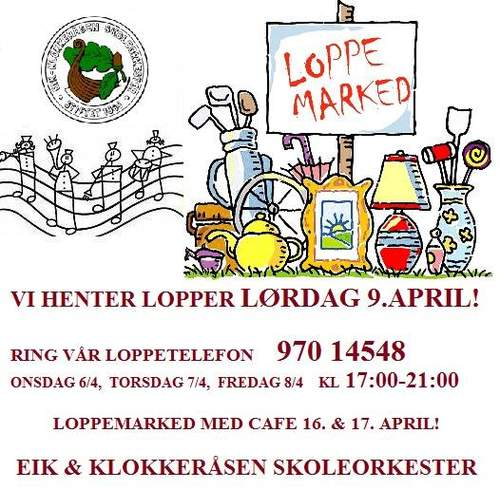 Eik & Klokkeråsen Skoleorkesters loppemarked