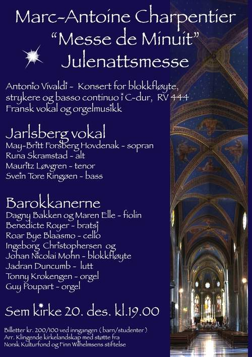 "Marc-Antoine Charpentier ""Messe de Minuit"" Julenattsmesse"