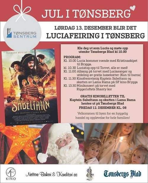 Luciafeiring i Tønsberg Sentrum