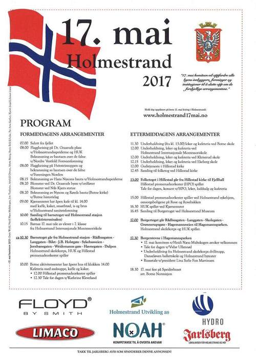 17. maiprogram 2017 Holmestrand