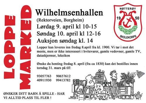 Loppemarked i Wilhelmsenhallen