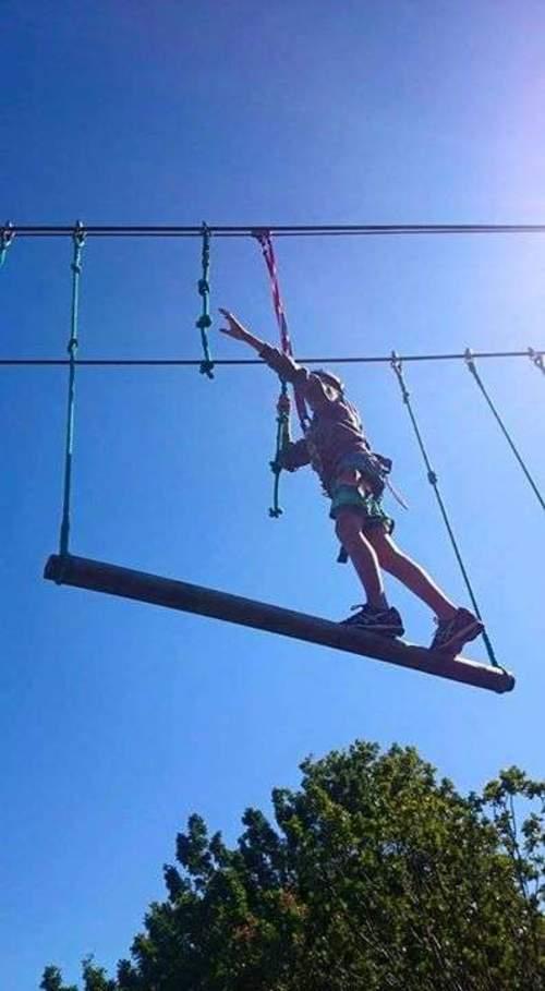 Høydepark med zipline - sommer for barn og ungdom