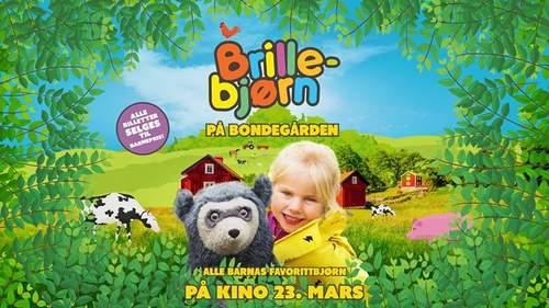Førpremiere på Brillebjørn på Bondegården - møt Brillebjørn!