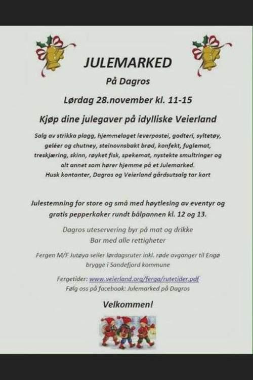 Julemarked på Dagros - Veierland