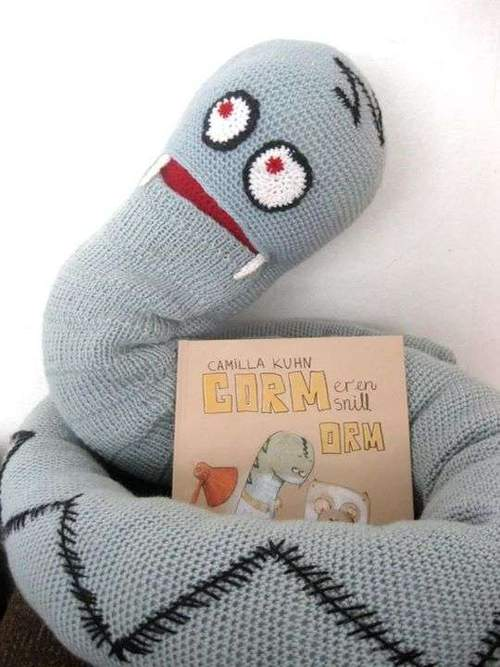 Gorm er en snill orm - med forfatter og illustratør Camilla Kuhn