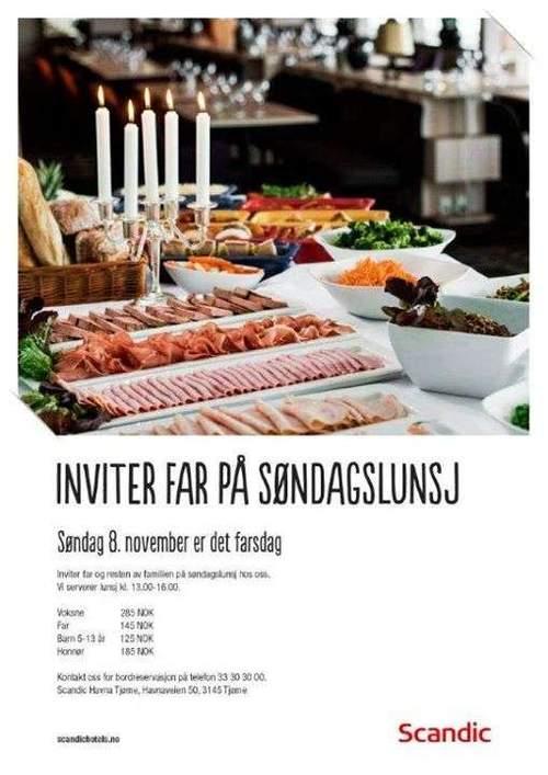 Inviter far på søndagslunsj