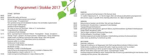 17. mai programmet 2017 i Stokke
