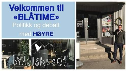 """Velkommen til """"Blåtime"""", Høyres kafe"""