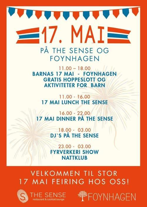 17. mai på The Sense og Foynhagen