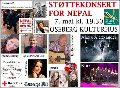 Støttekonsert for Nepal