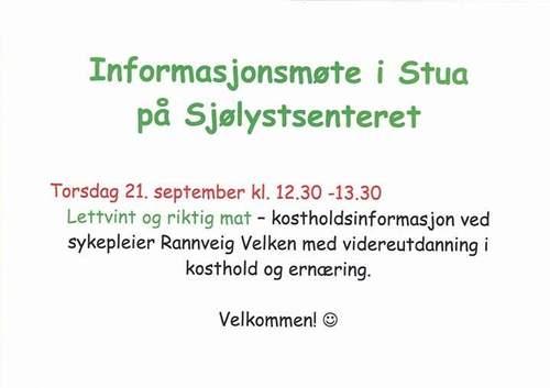 Informasjonsmøte i Stua
