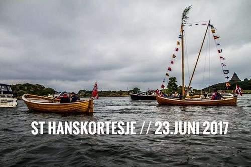 Båtkortesje i Larviksfjorden St Hans 2017