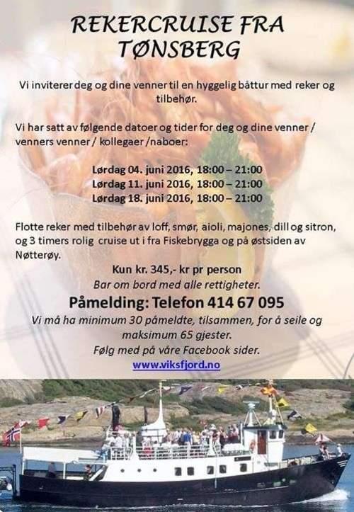 Rekecruise fra Tønsberg