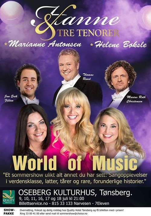 World of Music - Hanne & Tre Tenorer med Venner