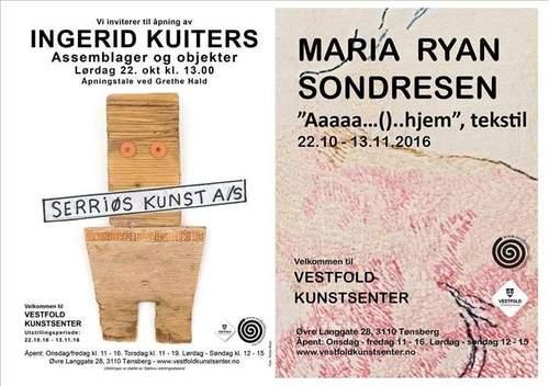 Ingerid Kuiters og Maria Ryan Sondresen i Vestfold Kunstsenter