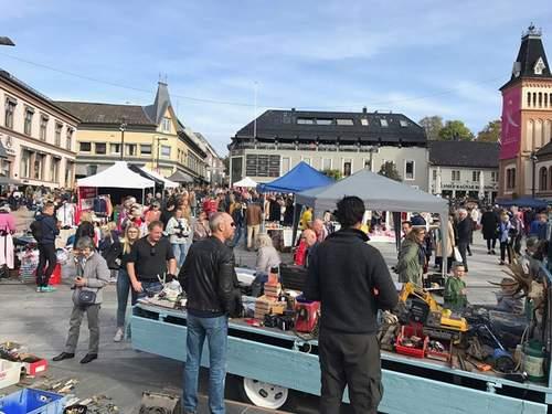 Gjenbruksmarked på Tønsberg Torv 2018